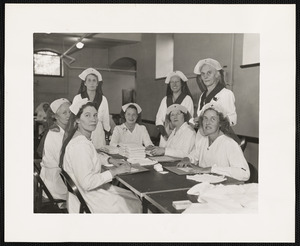Group of women in Red Cross uniforms