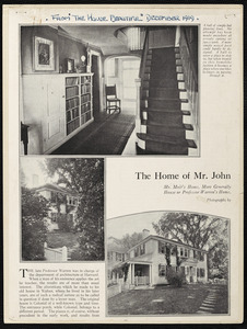 The home of Mr. John A. Moir, in Waban Mass