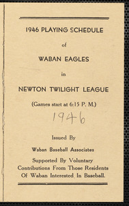 1946 playing schedule of Waban Eagles
