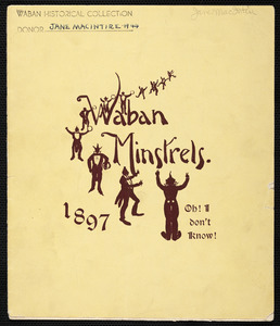 Program for Waban Minstrels, 1897