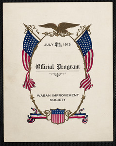 Official program, Waban Improvement Society, July 4, 1913