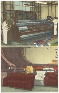The Crawford Laudry Co., modern carpet cleaning machine, inspection of rugs and furniture