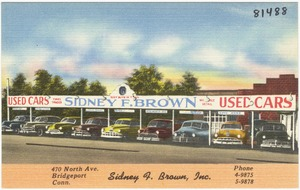 Sidney F. Brown, Inc., 470 North Ave., Bridgeport, Conn.
