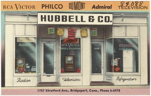 Hubbell & Co., 1757 Stratford Ave., Bridgeport, Conn., Phone 6-6978.