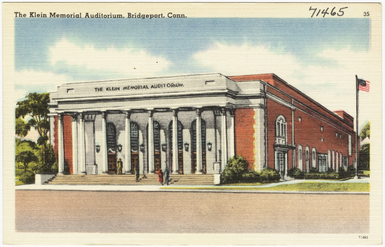 The Klein Memorial Auditorium, Bridgeport, Conn.