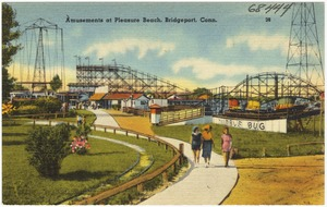 Amusements at Pleasure Beach, Bridgeport, Conn.