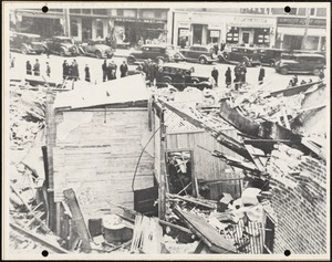 First National store, Weymouth Landing. After Explosion