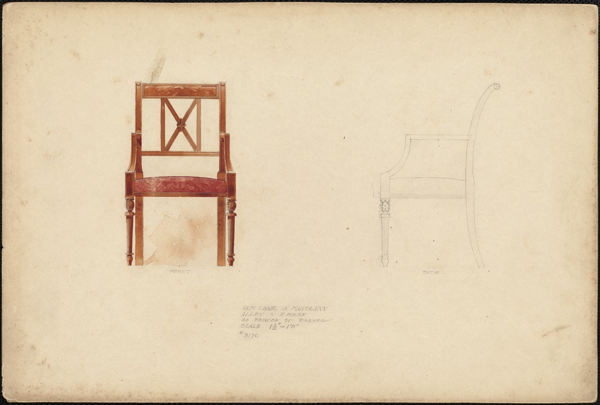 Arm chair in mahogany