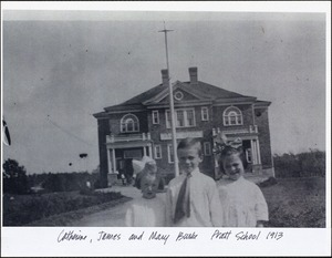 Catherine, James and Mary Burke. Pratt School 1913