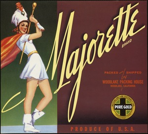 Majorette Brand: Packed and shipped by Woodlake Packing House, Woodlake, California, produce of U. S. A.