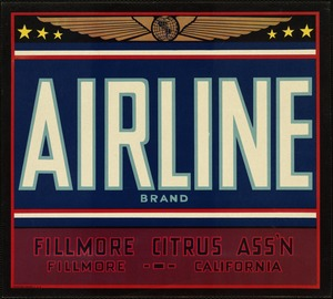 Airline Brand: Fillmore Citrus Ass'n, Fillmore, California