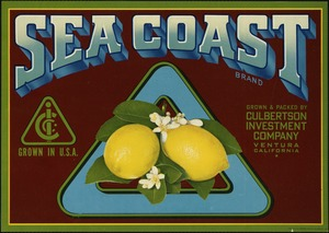 Sea Coast Brand: Grown & packed by Culbertson Investment Company, Ventura, California