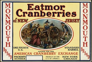 Eatmor Cranberries of New Jersey: American Cranberry Exchange, New York, Chicago, Monmouth Brand