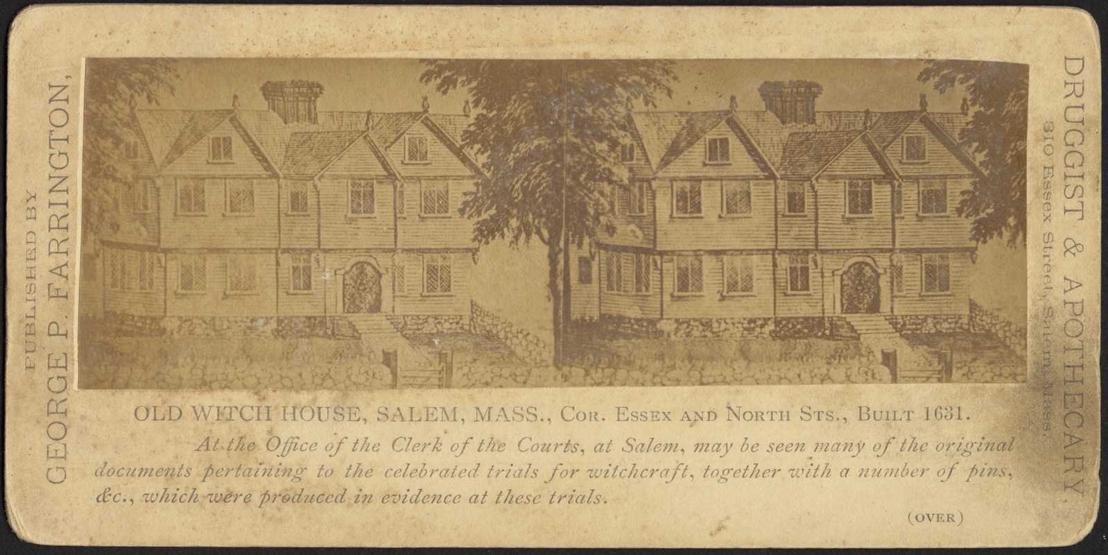 Old Witch House, Salem, Mass., cor. Essex and North Sts., built 1631