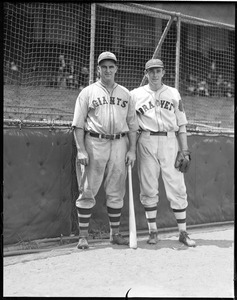 Shanty Hogan of the Giants and Bob Brown of the Braves.