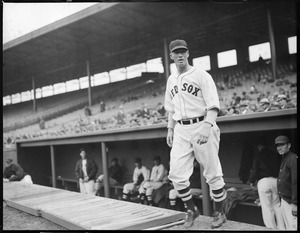 Lefty Grove coming out of the Fenway dugout