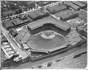 Aerial view of Braves field