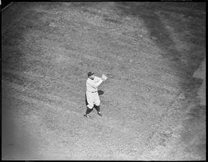 Babe Ruth of the Yankees at Fenway