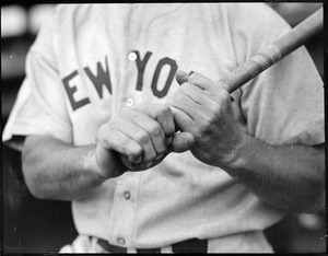 Babe Ruth hands on bat