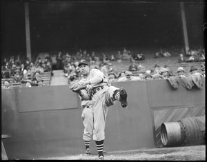 Bob Feller - Cleveland - at Fenway Park
