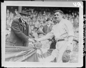 Babe Ruth and Pres. Harding