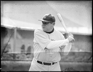 """The """"Babe"""" strikes a familiar pose during series against the Red Sox"""