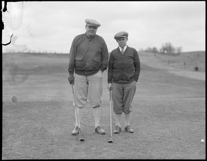 Babe Ruth and golf partner on the links