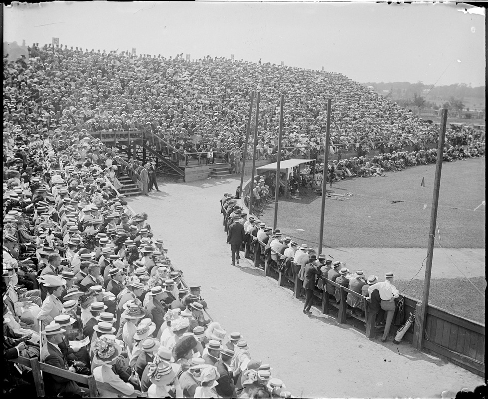 Big baseball crowd at Harvard