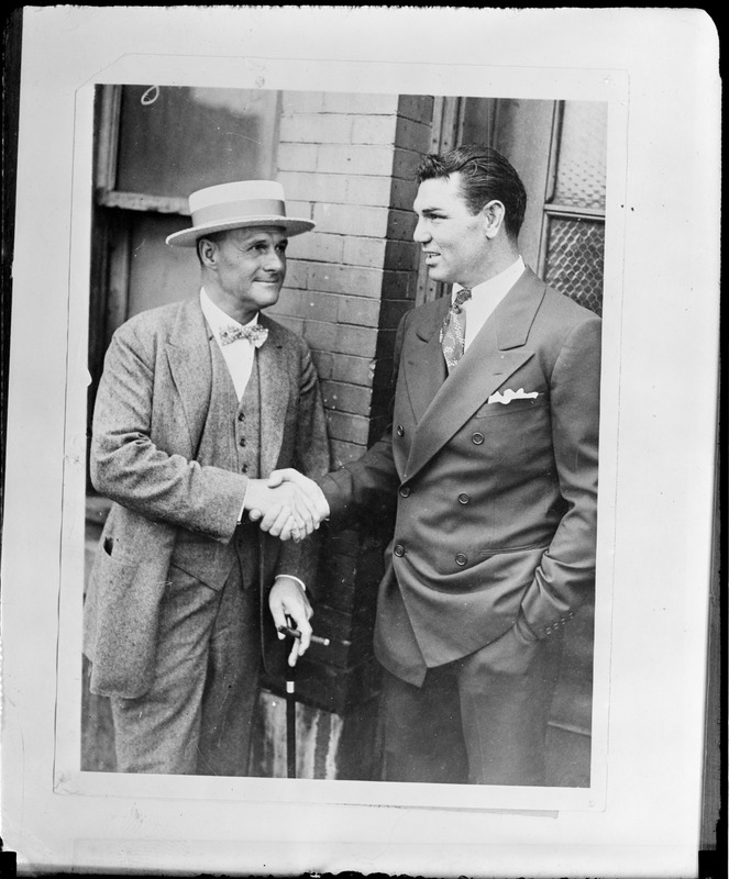 Jack Dempsey and promoter Tex Rickard