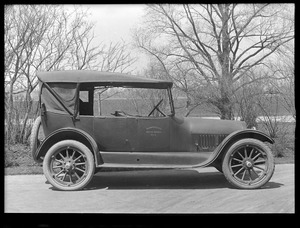 Distribution Department, MWW No. 4 [MDC No. 4], Buick; front and passenger side view; at Chestnut Hill Pumping Stations, Brighton, Mass., May 5, 1920