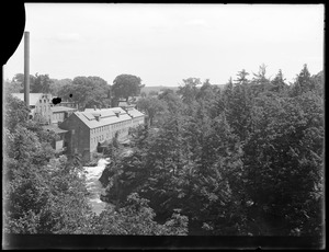Sudbury Department, Sudbury Aqueduct, view from Echo Bridge, looking towards mill, Newton; Wellesley, Mass., Jul. 1, 1920