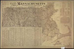 Scarborough's topographic map of Massachusetts