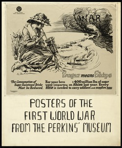 Sugar Rationing Poster, World War I