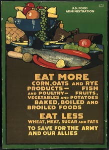 Food Rationing Poster, World War I