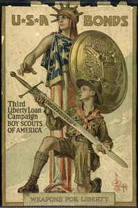 Third Liberty Loan/Boy Scouts poster, World War I