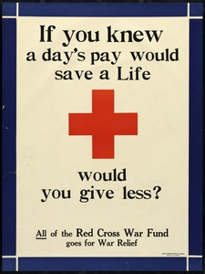 Red Cross War Fund, World War I