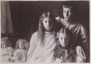 Photograph Album of the Newell Family of Newton, Massachusetts - Anna, Florence and Channing -
