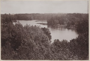 Photograph Album of the Newell Family of Newton, Massachusetts - Charles River from Norumbega Tower -
