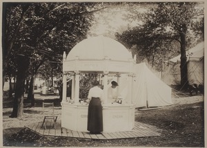 Photograph Album of the Newell Family of Newton, Massachusetts - Booth at County Fair, West Newton -