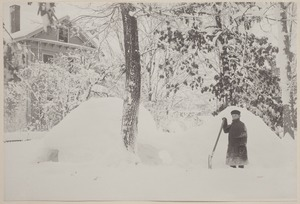 Photograph Album of the Newell Family of Newton, Massachusetts - Channing and His Snow House -
