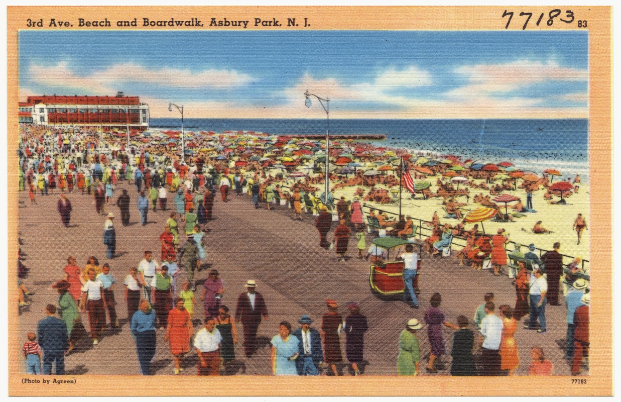 3rd Ave. beach and boardwalk, Asbury Park, N. J.