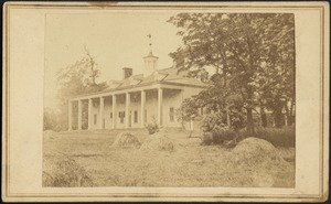 View of porch at Mt. Vernon, George Washington's home
