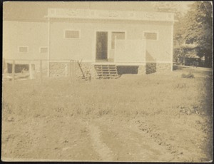 Ashdale Farm. Gertrude Stevens Kunhardt with dogs.
