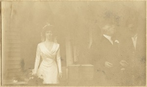 Double-sided page from photo album