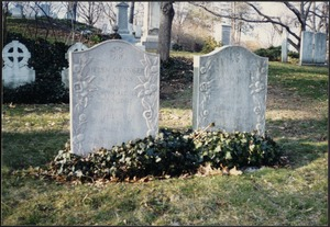 Coolidge Family Plot at Mount Auburn Cemetery, includes JGC and HSC gravestones