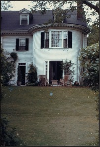 Ashdale Farm. Rear view of main house, patio