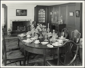Ashdale Farm. Interior — Dining Room, table set.