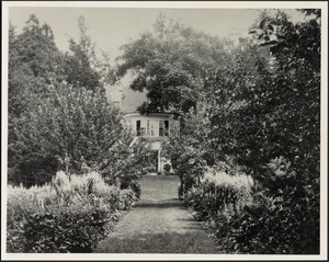Garden path leading to back of main house