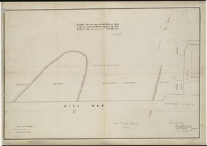 [Plan of channels and flats as they were before the 200 feet outside of the Mill Dam was filled up]