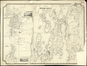 Map of Newport County, Rhode Island